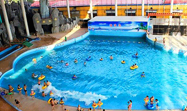 Vacuum wave pool